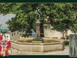 GK 800 Falknerbrunnen von Lauenstein mit einer NEUFASSUNG der Falknersage auf der Rückseite
